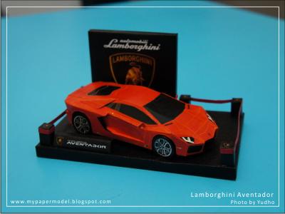 Papercraft Lamborghini Template Lamborghini aventador simpel