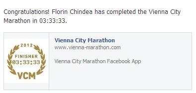 Florin Chindea rezultat Maraton Viena
