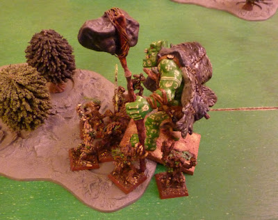 Age of Sigmar battle report between Sylvaneth Aelfs and Chaos Monsters