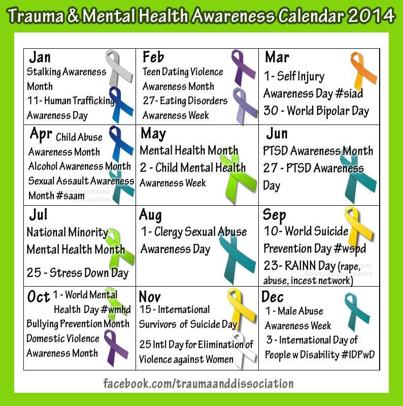 2014  Awareness Calendar
