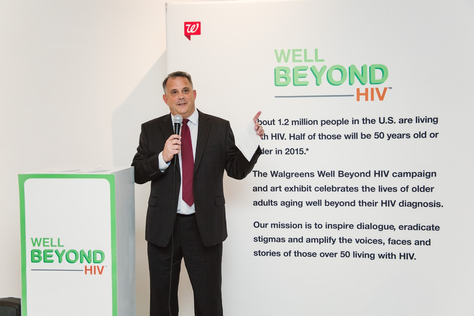 Glen Pietrandoni Walgreens Well Beyond HIV NYC Event