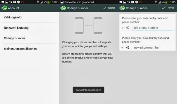 Now change your phone number with the updated WhatsApp for Android smart phones and tablets