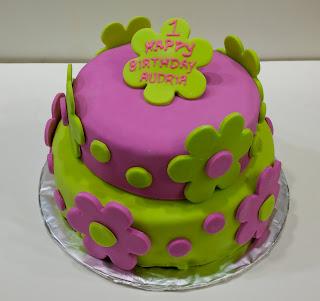 Simple Fondant Birthday Cake For Girls