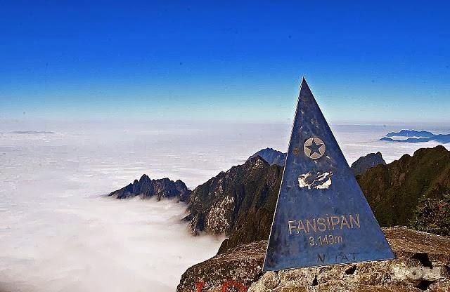 cảnh quan thiên nhiên trên đỉnh fansipan