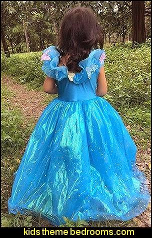 Cinderella Movie dress Ella princess dress costume girl cosplay butterfly
