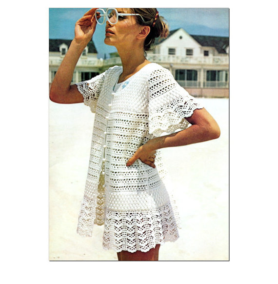 Free Crochet Pattern: Cotton-Ease® Beach Cover Up - Lion Brand Yarn