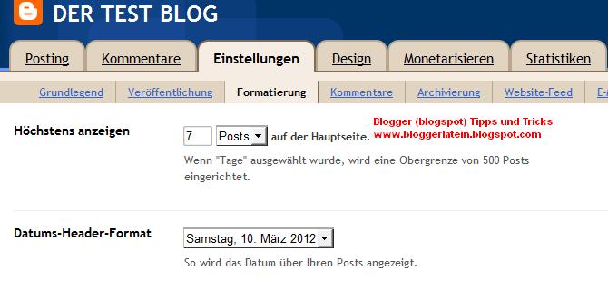 Mehr Posts auf der Startseite bei Blogger Blogspot anzeigen