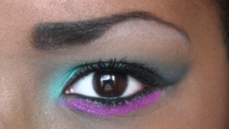 ladylunna tuto green pink make up inspired by. Black Bedroom Furniture Sets. Home Design Ideas