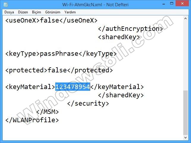 Windows 8 Kablosuz Profil Yedekleme