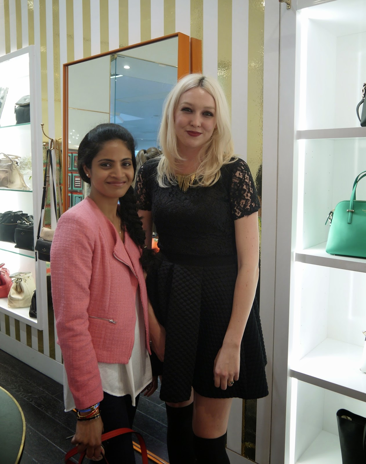 With Holly McGlynn at Kate Spade Westfield