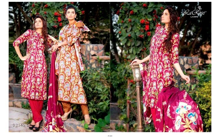 Latest Red Lawn Dresses 2014