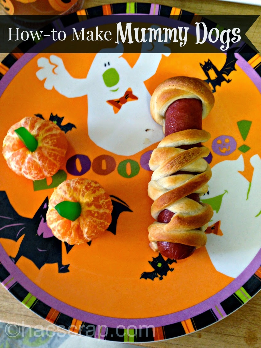 Mummy Dog All Plated for Halloween