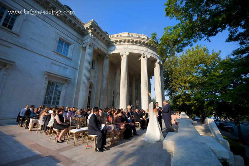 Wedding ceremony outside in Washington DC