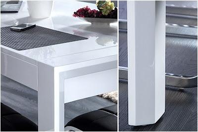 luxusny biely stôl do jedalne