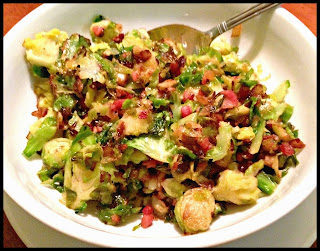 Recipe: Shaved brussels sprouts with crispy pancetta
