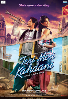 Teri Meri Kahaani 2012 Hindi Movie 720p hevc HDRip 600MB