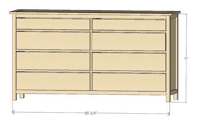Copycat Home Shaker Style Dresser Plans