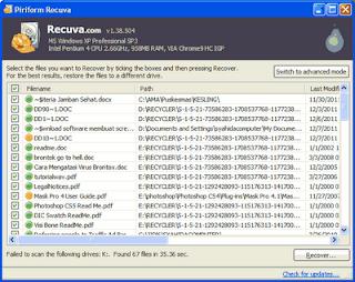 Cara Mengembalikan File / Folder yang Terhapus Permanen
