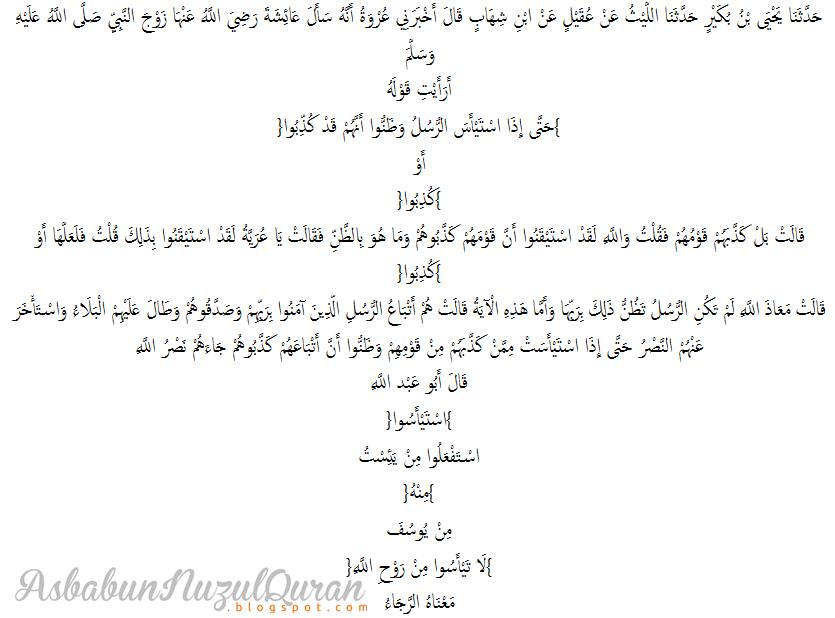 Qur'an Surat Yusuf ayat 110