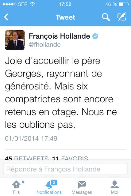 François Hollande de retour sur Twitter?