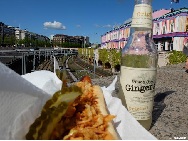 Polsevogn hot dog danois à Copenhague palads