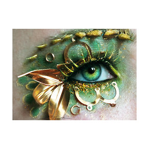 Green Antique Eye Makeup
