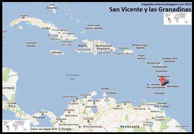 San vicente y las granadinas mapas de mapa de san vicente y las granadinas en centroamrica y el caribe google maps gumiabroncs Gallery
