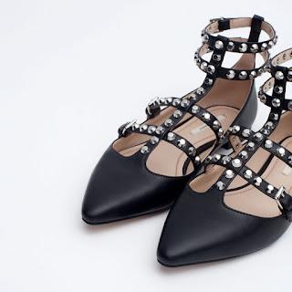 Studded Ballerina Flats