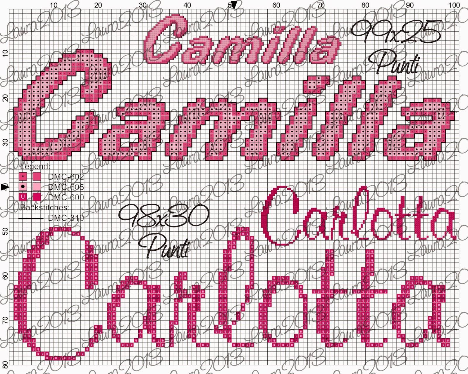 Gli schemi di Laura: Camilla e Carlotta