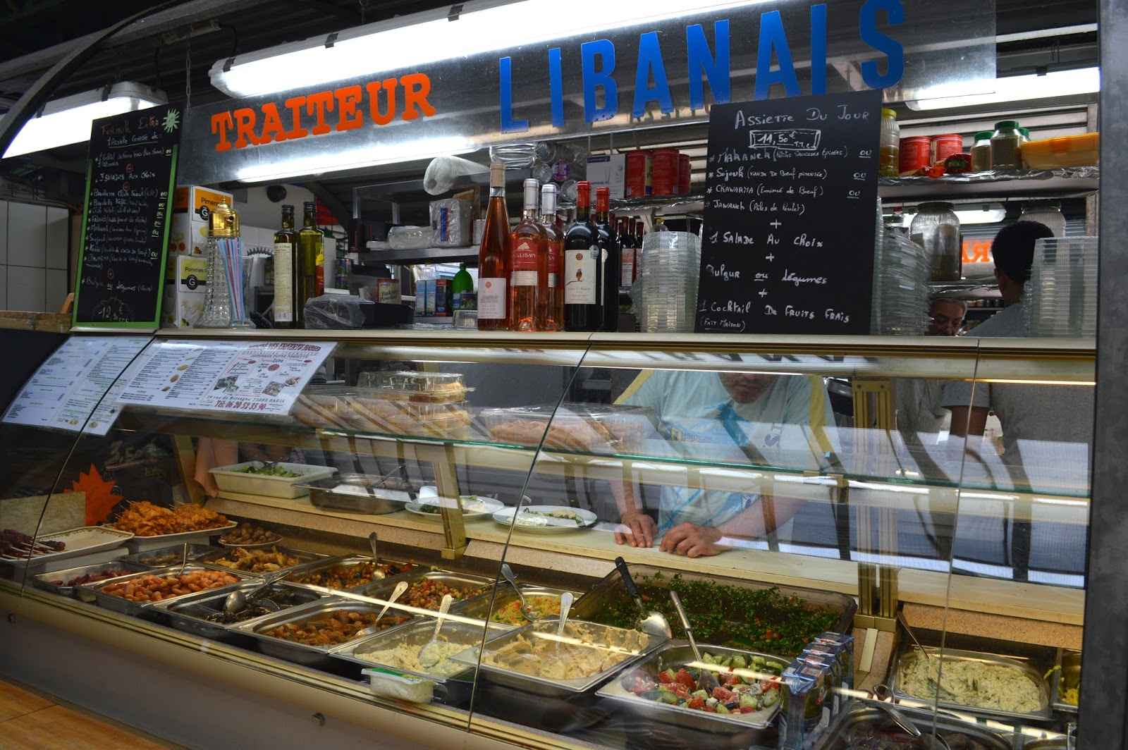 Where to eat good Lebanese food and falafel in Paris Marché des enfants rouges
