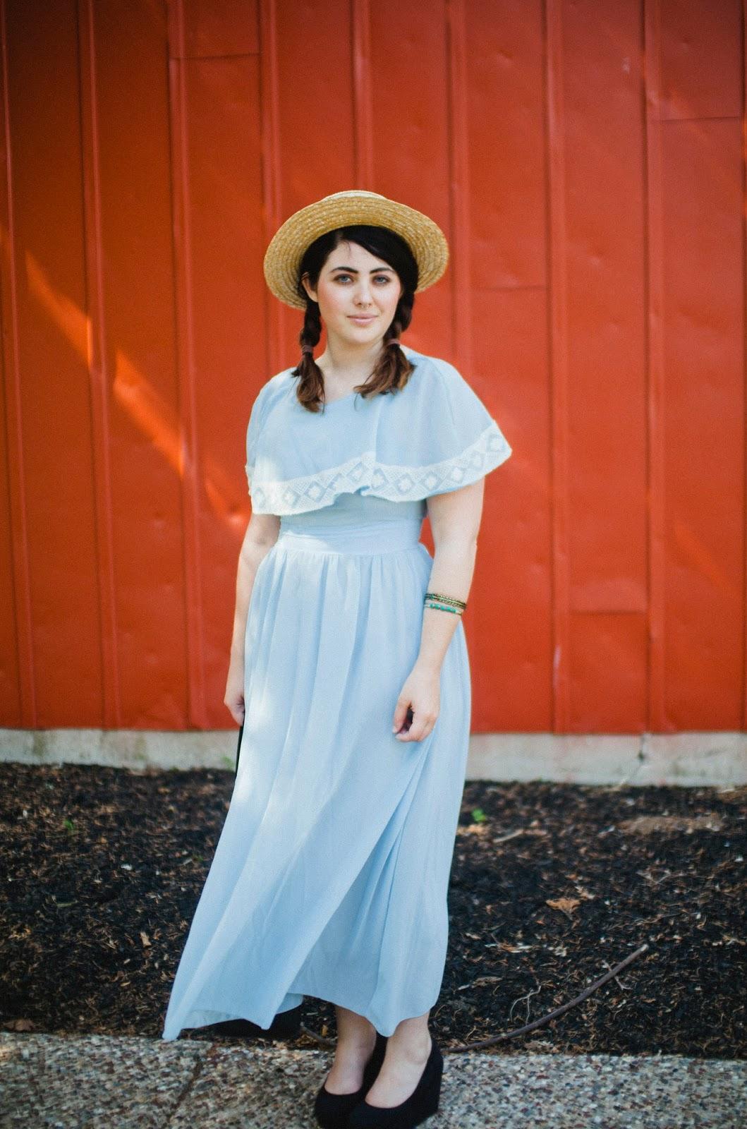 baby, blue, maxi, dress, summer, street, style, Philadelphia, fashion, ombre, balayage