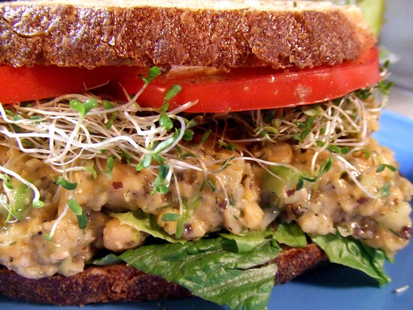how to make chickpea tuna salad