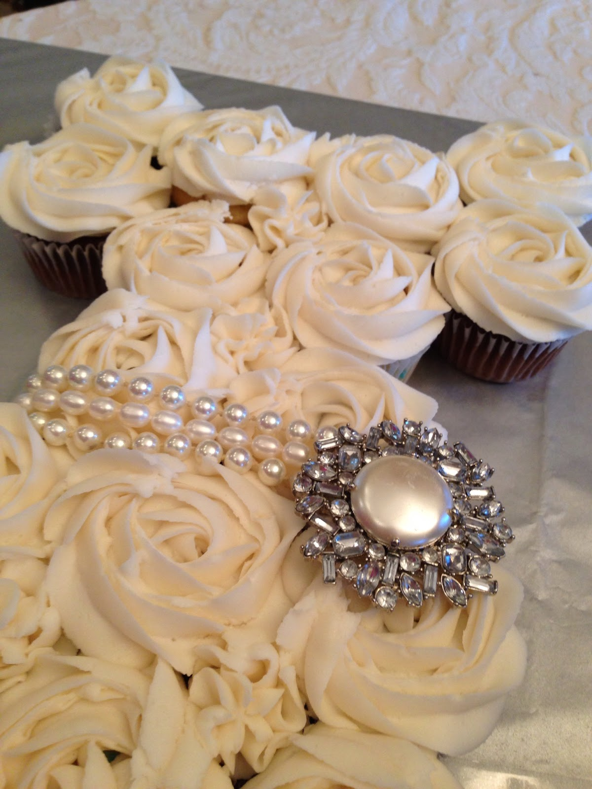 Oh Sugar Wedding Dress Cupcake Cake