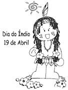 DESENHOS DO DIA DO ÍNDIO PARA IMPRIMIR E COLORIR (desenhos do dia do indio para colorir imprimir )
