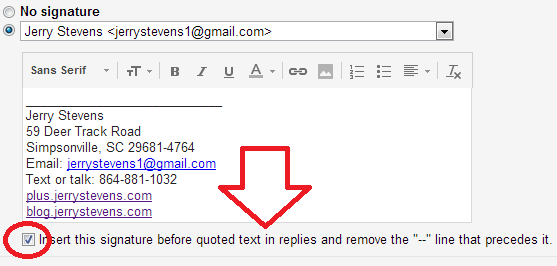even steven: Google Tweaks Gmail Signatures