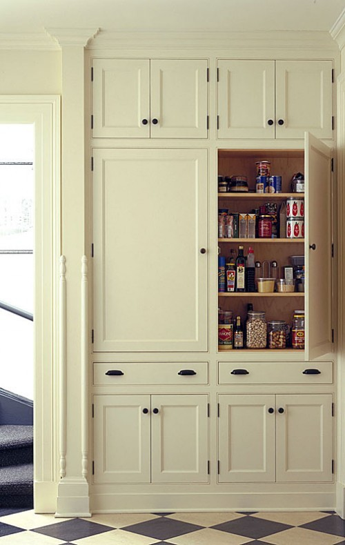 A fabulous built in pantry content in a cottage for Walk in pantry cabinets