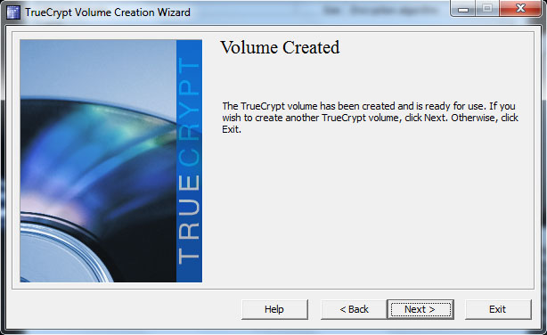 TrueCrypt - Volume Creation Wizard