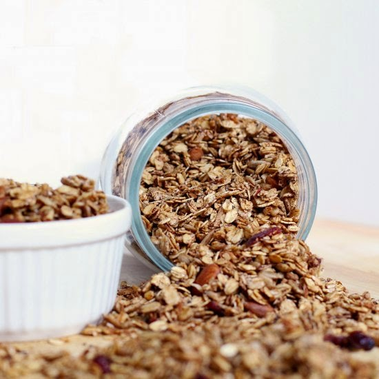 Eat Real Healthy Food | Cinnamon Cranberry Granola