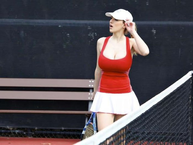 Jordan Carver Tennis Photo