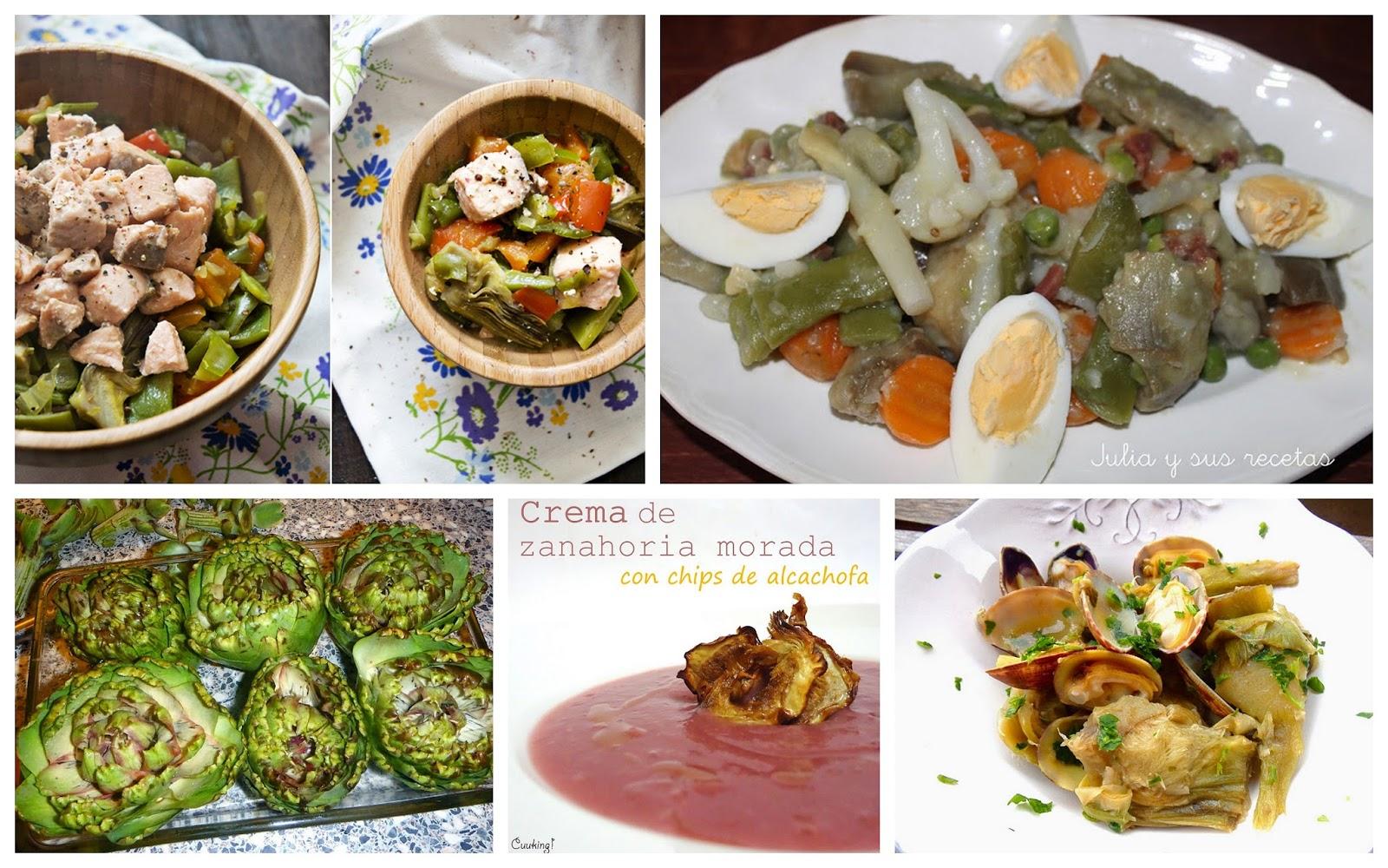 6 recetas ligeras y detox alcachofas y m s cocina - Peso de cocina ...