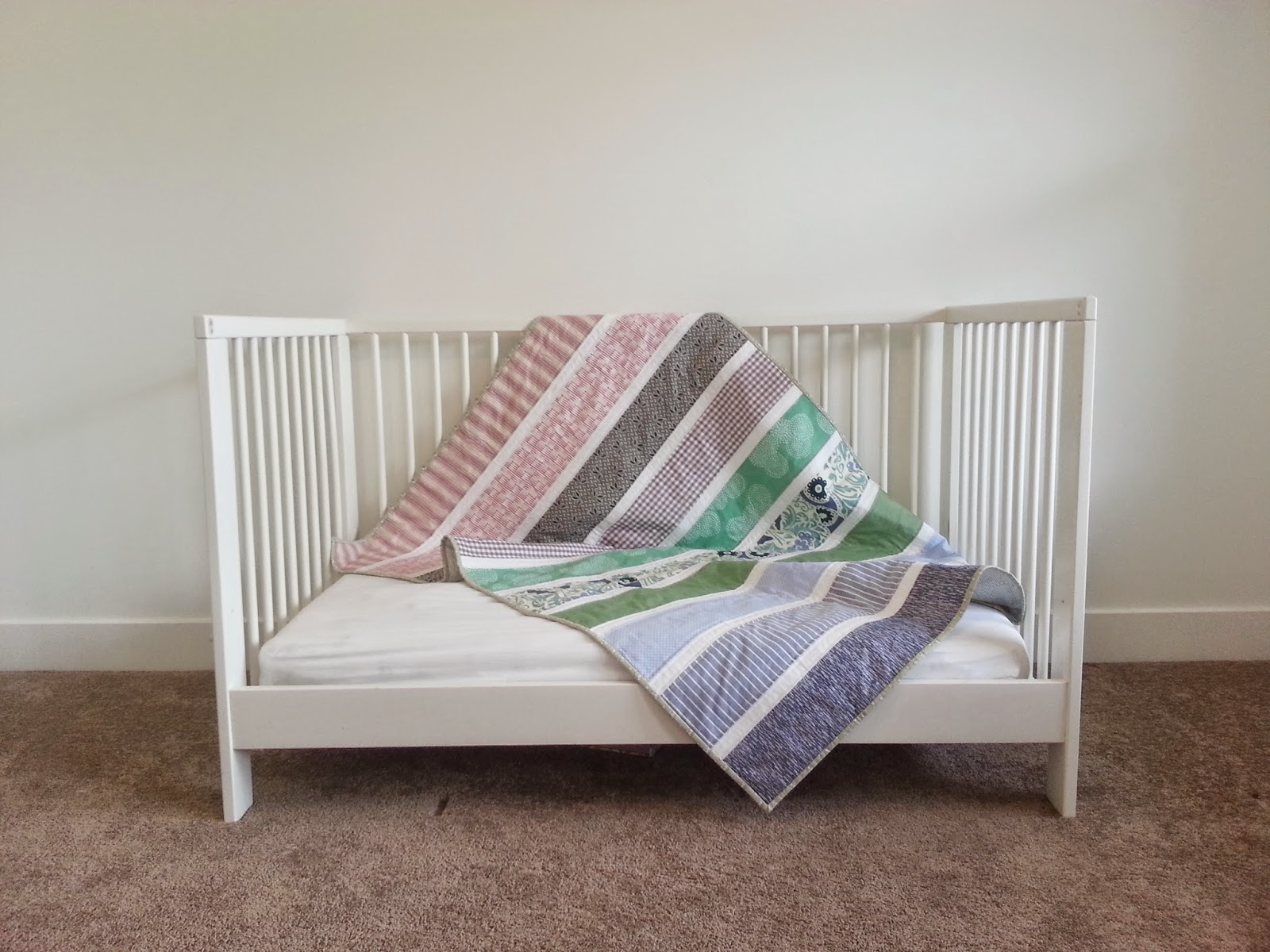 Big Stripes Crib Quilt