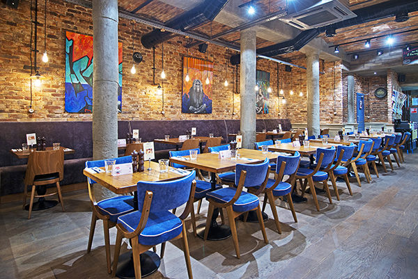 industrial restaurant furniture. Style Furniture Within The Industrial Building, With A Traditional Italian Touch Represented In Colour-washed Cupboards And Woodworks. Restaurant