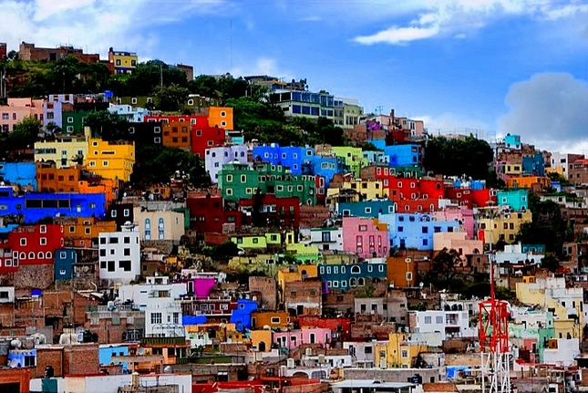 Colorful Guanajuato City Mexico Located In The Mountains Of Sierra De Stands One Beautiful