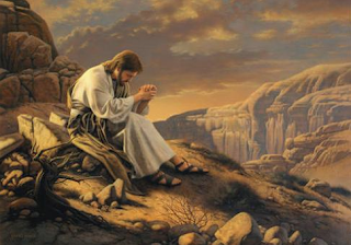 Jesus praying - Artist unknown