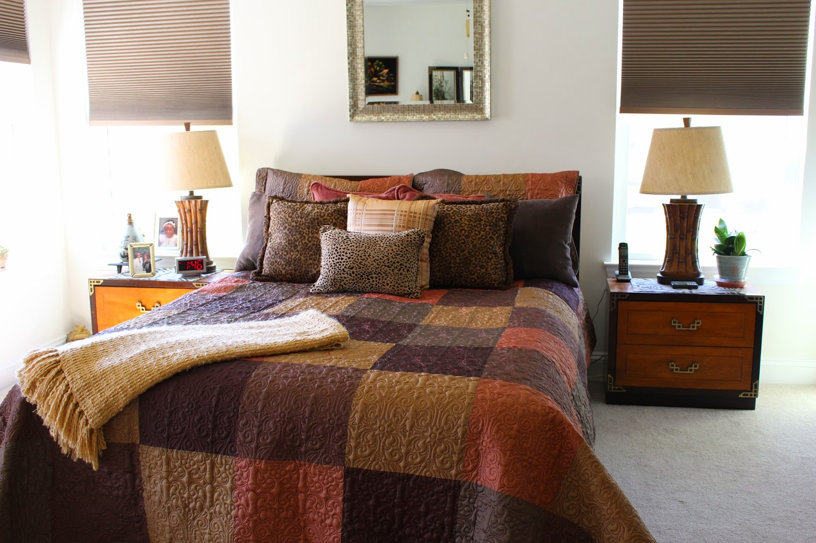 Designs by Pinky: Fall Bedding in the Master