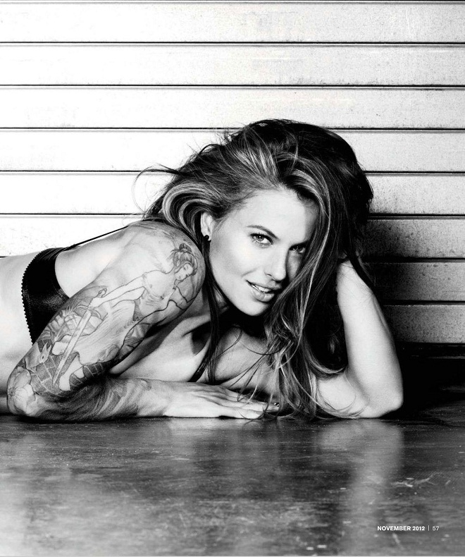 Christmas Abbott poses for Inked Magazine