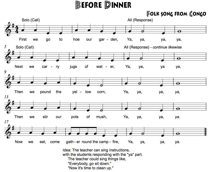 Recorder Songs EGA - Beth's Notes
