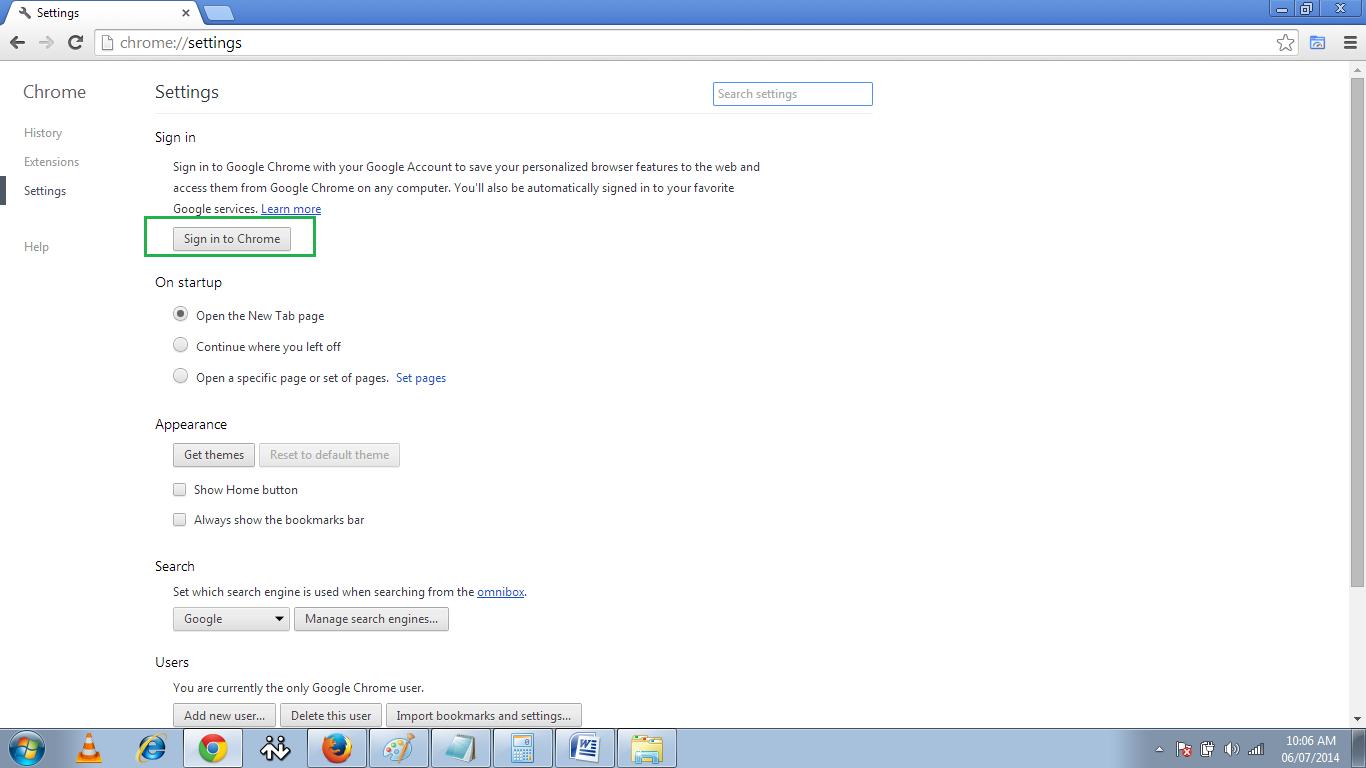 how to delete password history on chrome