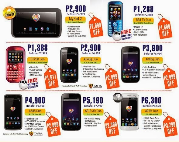 Myphone gadget sale extended until supplies last for O tablet price list 2014