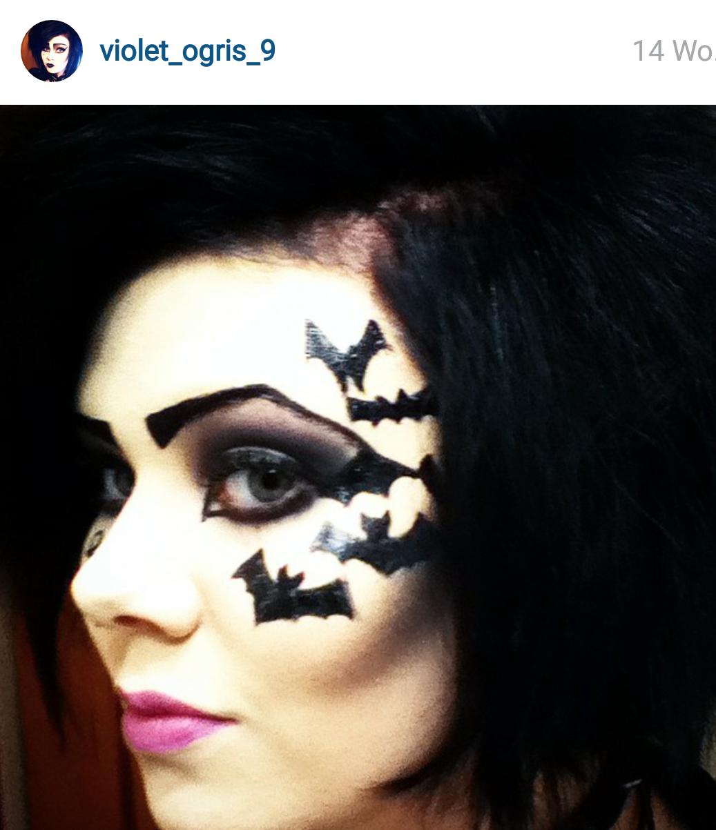 Halloween make up looks - Fledermaus schminken ...